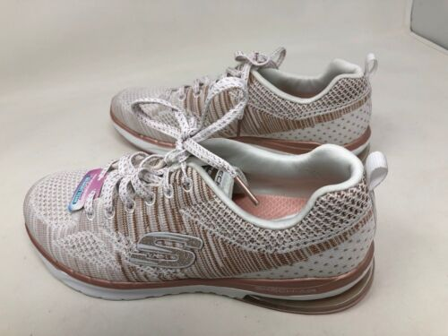 New Womens SKECH-AIR INFINITY STAND White//Rose Gold SN 12114 30R