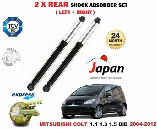 FOR MITSUBISHI COLT 1.1 1.3 1.5 DiD 2004-2012 2X REAR LEFT RIGHT SHOCK ABSORBERS