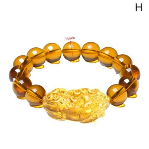 Natural Stone Obsidian Pixiu Bracelet Attract Wealth and Good Luck Jewelry