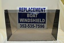 "Universal boat windshield 25"", 1/4"" plexiglass, low-pro, center console"