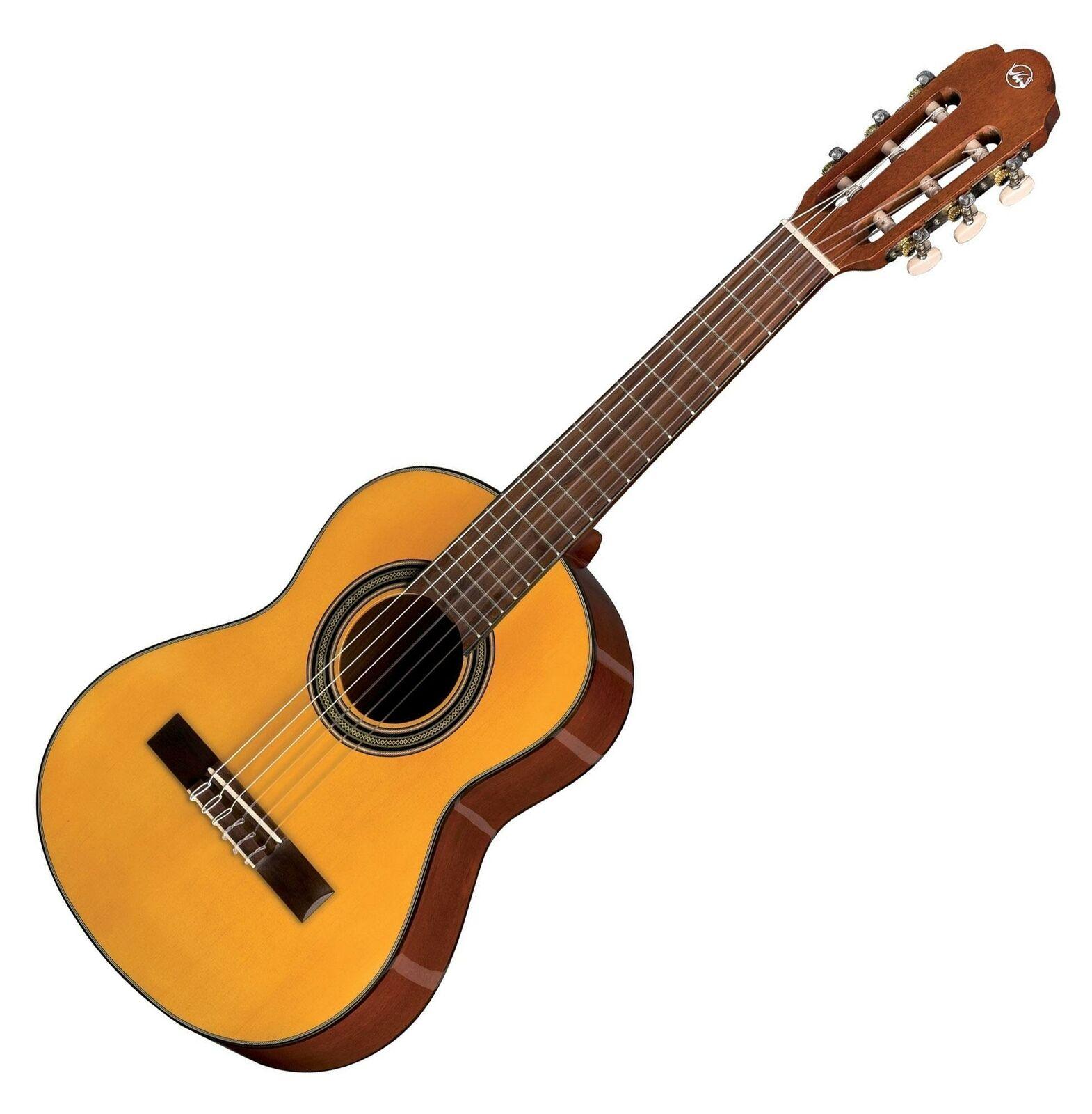 Schöne 1 4 Konzertgitarre für Kinder & Schüler mit Hannabach Saiten, Natur hell