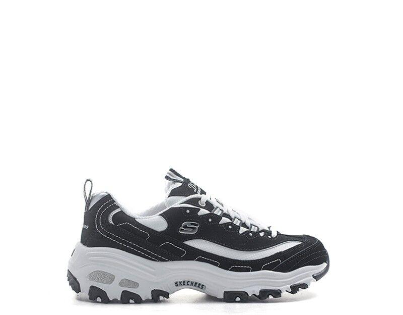 Chaussures SKECHERS Sport Femme noir couché cuir, tissu 11930-bkw