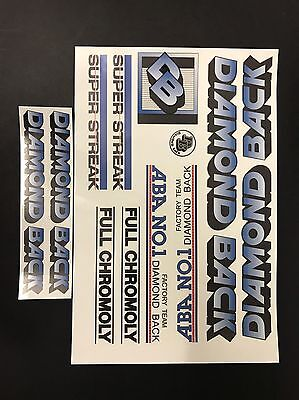 Diamondback COOL Streak Decals Sticker Set Suit Your Old School BMX Blue
