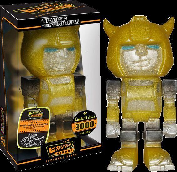 Hikari Transformers Glitter Bumblebee Clear Glitter Transformers Vinyl Figure bfc5f6
