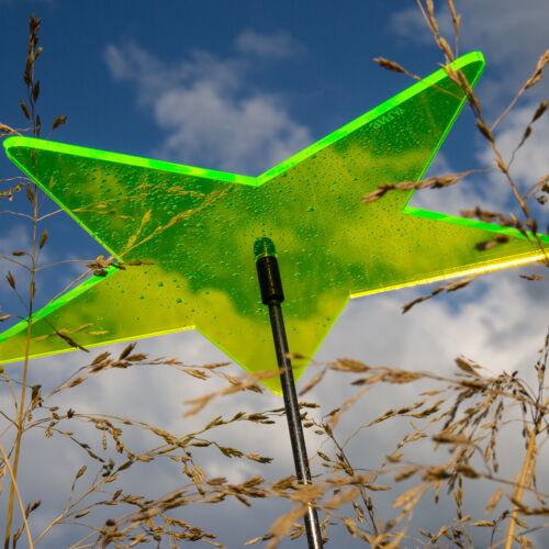 Gartenstecker Sterne Lisa FARBMIX 6 Stück SUNPLAY Sonnenfänger Ø10cm Suncatcher