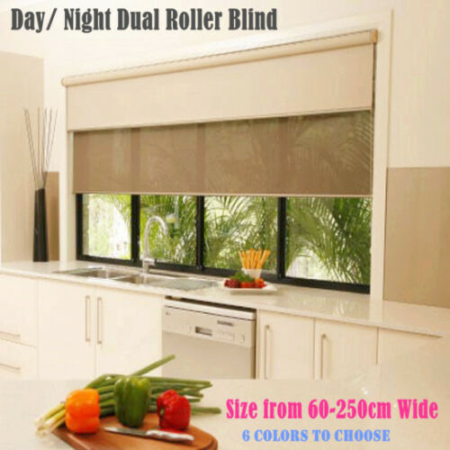 Dual Day Night Double Roller Blinds Fits 60 210cm Width X