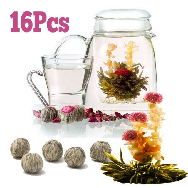 16pcs Blooming Flowering Flower Tea Vanilla Flavor - FREE Shipping