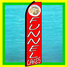 Funnel Cakes Food Feather Swooper Bow Banner Ad Flag