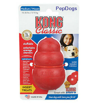 KONG MEDIUM Rubber Treat Dispenser -Worlds Best Dog Toy