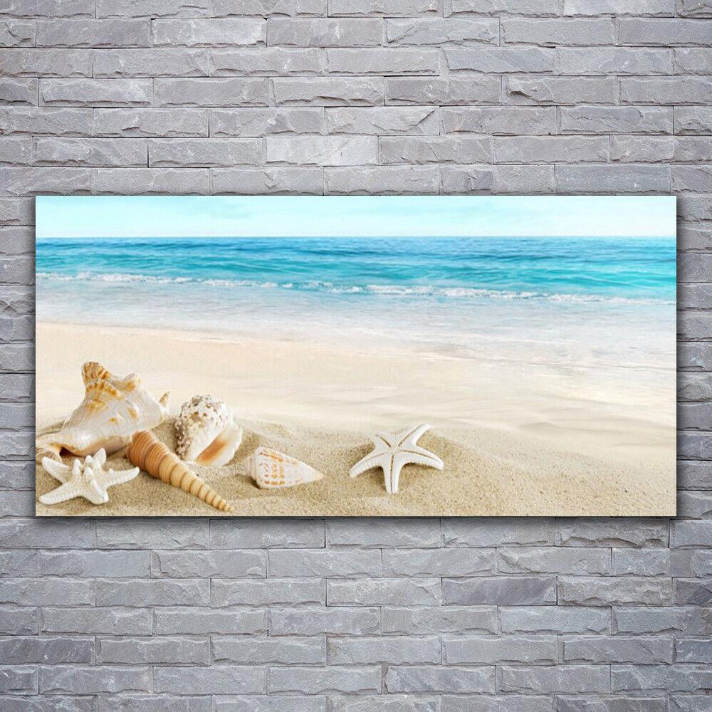 Verre Imprimer Wall Art Image 120x60 photo étoile de mer paysage