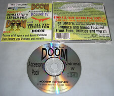 The Complete Doom 1 & 2/II Accessory Pack Volume IV 4 PC Computer CD Game RARE!