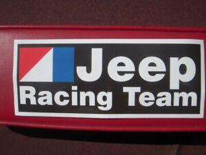 AMC Jeep Racing Team bumper sticker CJ5 CJ7 Wagoneer J10 J20
