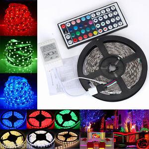 5M-3528-RGB-LED-Stripe-Leiste-Streifen-Band-Lichter-SMD-Leuchten-Lichterkette-DE