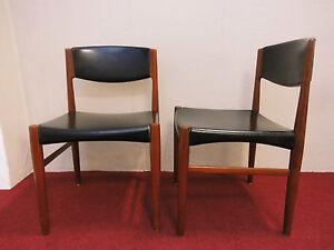 2x Teca silla comedor Silla danesa diseño 401 70s 60 Años 70 vintage ...