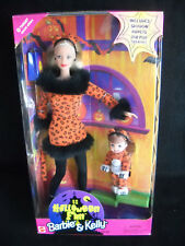 46a0496a25d8 1998 Mattel Halloween Fun Barbie & Kelly Dolls in Leopard Costumes ...
