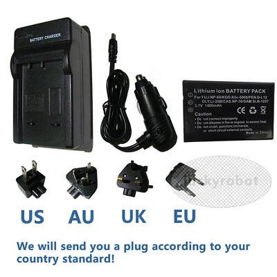Battery+Charger for VIVITAR DVR-840XHD DVR-545 DVR-565HD