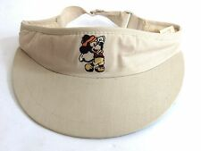 Disney Mickey Mouse Golf Visor Hat Pro Collection Vintage 1980's Golf Resort