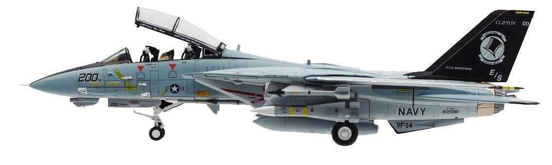 Calibre alas 172 Tomcat F-14A Tophatters USN F-14 último crucero en 2001