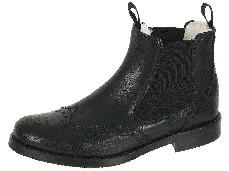 Los últimos zapatos de descuento para hombres y mujeres Grandes zapatos con descuento Zecchino d'Oro F08-3857 2213 Chelsea Stiefeletten Schwar Budapester Gr 32-40 Neu