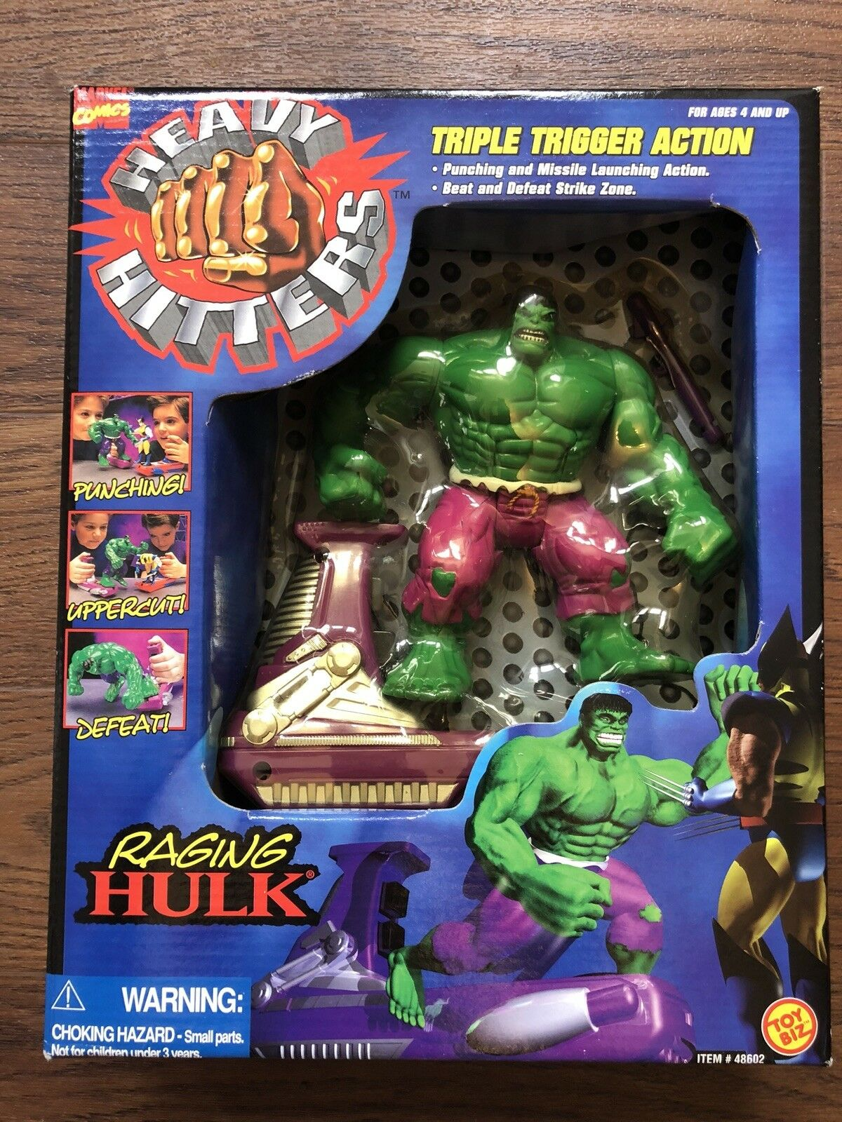 Marvel Comics Heavy Hitters Raging Hulk Figure 1996 New