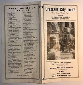 New Orleans LA Brochure 1940's Crescent City Tours Courtyard Little Theatre