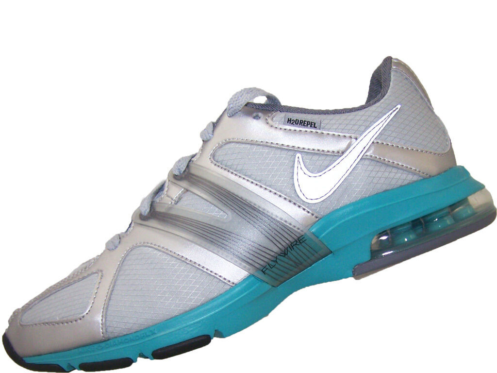 Womens Nike Air Max Trainer Excel Shield New Shoes 469766-001 Silver/Turquoise