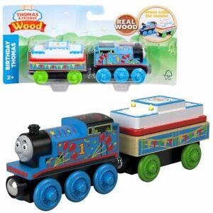 Birthday-Thomas-Mattel-GGG69-Wooden-Railway-Locomotive-Thomas-amp-Friends