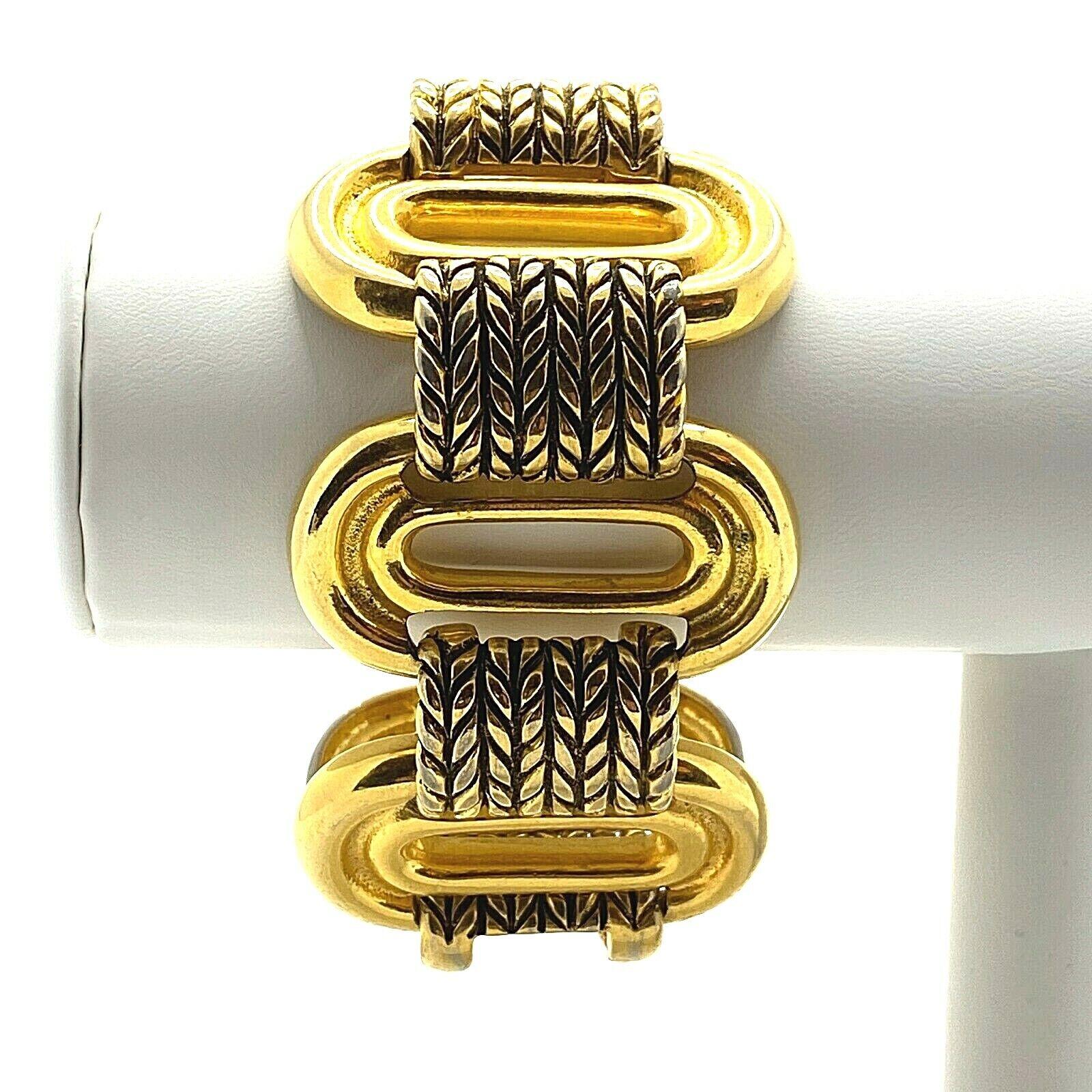 Vintage Claire Deve Paris Bracelet Signed Chunky … - image 1