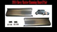 1934 Chevrolet Chevy Master Steel Running Board Set - Made In Usa 16 Gauge