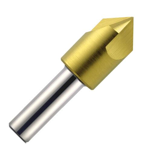 "3//4/"" Diameter x 82Deg Single End 3 Flute TiN High Speed Steel Countersink"