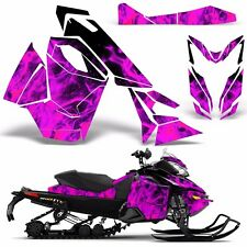 Decal Graphic Wrap Kit Ski Doo Sled Snowmobile REV XS Renegade MXZ 13+ ICE PINK