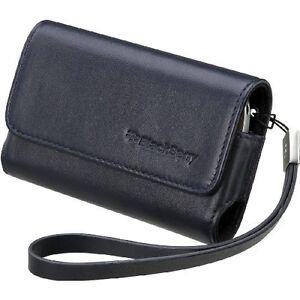 Original-Blackberry-Folio-De-Cuero-Estuche-Para-Bb-Torch-9850-9860-9870-azul-oscuro
