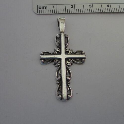 Sterling Silver 43x23 mm Large Beautiful Cross Pendant Charm