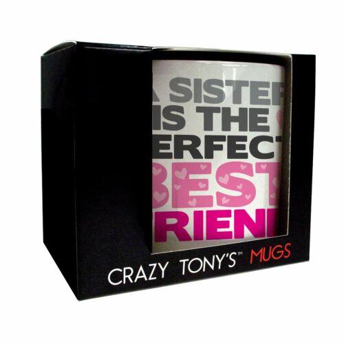Sister Best Friend Personalised Mug Coaster Gift Set Sister's Birthday Presents