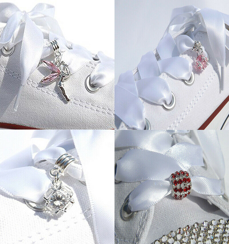 Crystal Shoe Charms That Slide on Shoelaces For Blinged Crystal Pimped Trainers