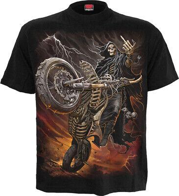 Biker for life skeleton bikers t-shirt tee motorbike motorcycle biking life