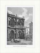 Die Basilika zu Vicenza Stadthaus Palladio Platz Figuren Holzstich E 20218