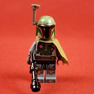 Genuine Lego 9496 Star Wars Boba Fett Minifigure with Cape and Blaster
