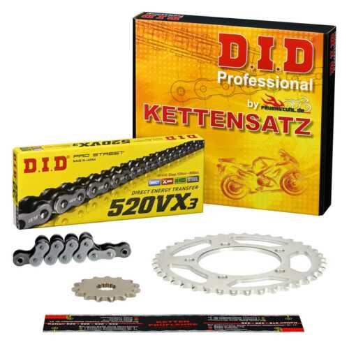 DID VX3 Kettensatz EXTRA verstärkt Kawasaki Z 250 C KZ250C CLIPSCHLOSS 80-83