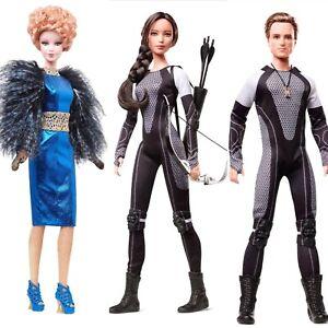 Hunger-Games-Barbie-CATCHING-FIRE-Doll-SET-of-Three-Katniss-Peeta-amp-Effie-NEW