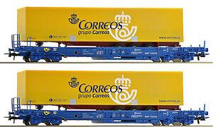 ROCO-67509-2-piezas-Set-unidades-vagones-3-NUEVO-emb-orig