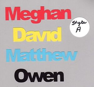 Details about Name Die Cut- Any Name - You Choose Color and Size - 2 styles  available, 1 pc