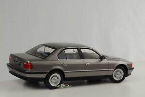 BMW-740i-E38-Mki-1-Series-1994-Limousine-Grey-Metallic-Diecast-1-18-Kk-Scale