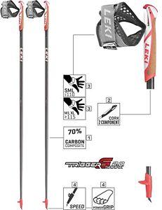 LEKI Nordic Walking Stöcke »Flash Carbon« Unisex 100-130cm Trigger Shark 2.0 NEU