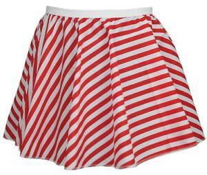 Ladies-Red-amp-White-Full-Circle-15-034-Candy-Cane-X-Mas-Skater-Skirt