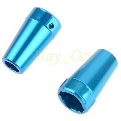 AX80020 Rear Cup Axle Adapters 2P For GPM AXIAL SCX10 ELECTRIC 4WD SCX022 Blue