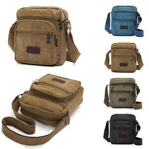 240b7003c47c Retro Men's Canvas Shoulder Messenger Bag Crossbody Satchel Travel ...