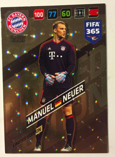 PANINI ADRENALYN XL FIFA 365 17 limited edition édition limitée Manuel Nouveau