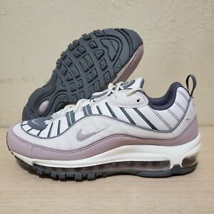 Details about Nike Air Max 98 White Violet Ash Grey Womens Running Shoes Size 8.5 (AH6799-111)