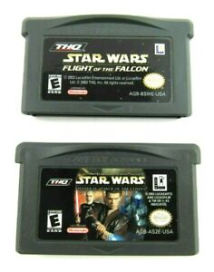 Lot-of-2-Star-Wars-Nintendo-Gameboy-Advance-Games-Flight-of-the-Falcon-Clones